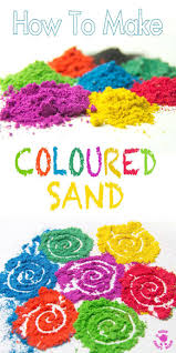 how to make coloured sand kids craft room