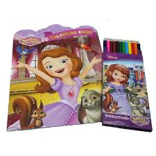 disney sofia coloring book 12 long color pencil
