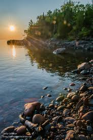 Minnesota travel net images Sunrise at sugarloaf cove on the north shore exploration vacation jpg