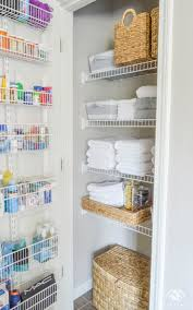 organized bathroom linen closet anyone can have medicine storage