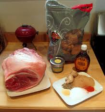 how to cook thanksgiving ham pecan smoked fresh ham with maple glaze on the wsm weber com