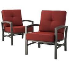 Motion Patio Chairs Threshold Squier 2 Piece Metal Patio Motion Club Chair Set