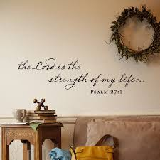 the lord strength vinyl wall art dayspring