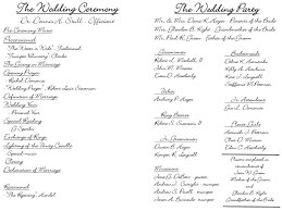 sle of wedding program wedding ceremony program wording wedding ideas 2018