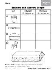 estimate and measure length enrichment 1st 2nd grade worksheet