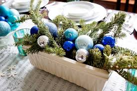 blue and silver snowflake decor