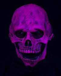 ghost glow mask zagone studios uv reactive orange glow skull hell met mask