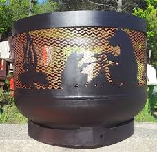 Propane Tank Firepit Wood Burning Muskoka Pit 30 Diameter Made Out Of Recycled