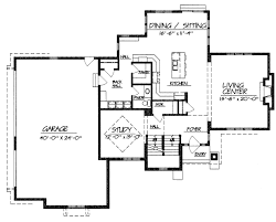 one story house plans without garage 1 3 car 2 bed room narrow