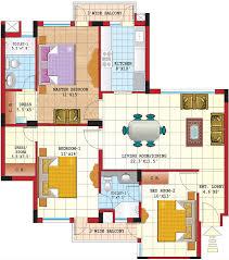 3 bedroom apartment floor plans india interior design