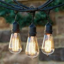 vintage light bulb strands industrial clear vintage edison style bulb string lights outdoor