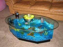Fish Tank Living Room Table - creative coffee table aquarium