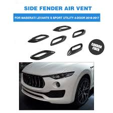 maserati door 6pcs carbon fiber side fender vent air intake decorative covers