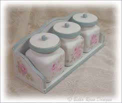 pink kitchen canisters painted pink roses kitchen canister set