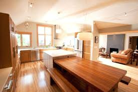 kitchen island with built in table bench tables for kitchen thelt co