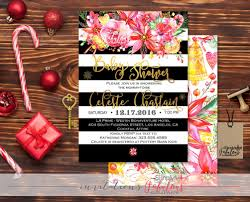 christmas baby shower invitation merry u0026 bright black white
