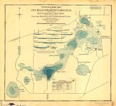 beulah dakota map hydrographic map of lake beulah walworth county wisconsin