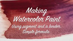 how to make your own watercolor paint youtube