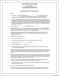private loan contract template samples csat co