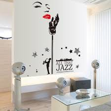 sotijobs home decorative mural decal art vinyl black jazz music sotijobs home decorative mural decal art vinyl black jazz music wall sticker marilyn monroe wallpaper