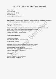 Police Academy Resume Cover Letter Sample Police Officer Gallery Cover Letter Ideas