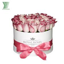 Wholesale Flowers Miami China Luxury Rose Round Packaging Gift Printing Wholesale Flower