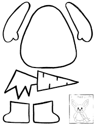 easter rabbit templates printable u2013 happy easter 2017