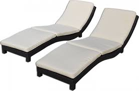 Outdoor Chaise Lounges Modern Living Outdoor Chaise Lounge Chairs W Cushions