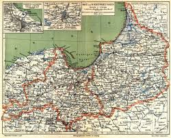 East West Germany Map by West Prussia