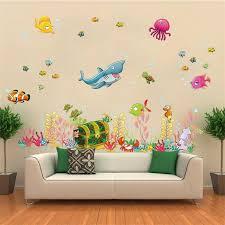 Aliexpresscom  Buy Cartoon Underwater World Wall Stickers For - Stickers for kids room