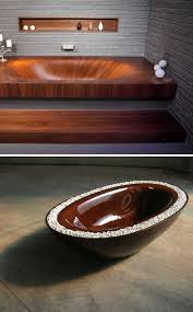 wooden bathtubs gorgeous grain wooden bathtubs really go with the flow