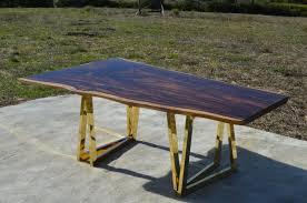 Acacia Table Modern 8 Foot Live Edge Black Acacia Table Or Desk With Sculptural