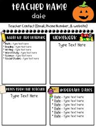 classroom newsletter templates free by ginger snaps tpt