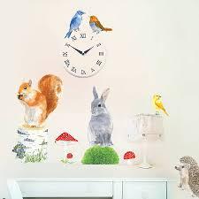 garden animals wall sticker by chocovenyl notonthehighstreet com