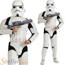 mens deluxe star wars storm trooper fancy dress costume halloween