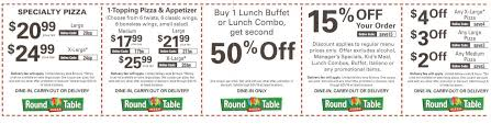 round table pizza coupons 25 off new round table pizza april may 2016 coupons buyvia