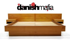 Teak Bed Mid Century Danish Modern Teak King Bed Nightstands Danish Mafia