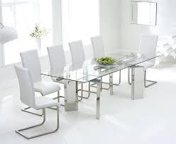 Glass Dining Table With 6 Chairs Extendable Glass Dining Table And 6 Chairs