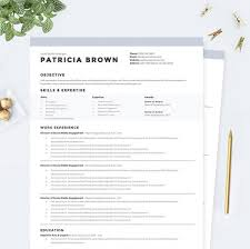 Clean Resume Template Chic Resume Cover Letter U0026 References Template Package