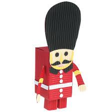 grenadier guard paper craft kit dotcomgiftshop home kids