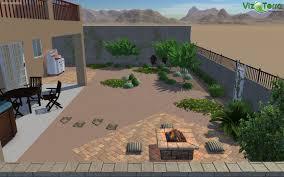 3d landscape design simple back yard desert design 2 paver areas