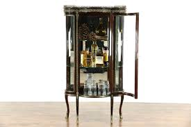 Curio Cabinets Ebay Sold French Mahogany 1930 U0027s Vintage Curved Glass Curio Cabinet