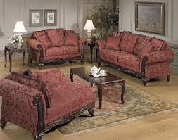 Tapestry Sofa Living Room Furniture Tapestry Traditional Living Room W Carved Wood Frame