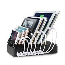 support de bureau pour smartphone support de charge maxtronic usb bambou multi device station