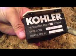 kohler 10roy diesel generator voltage regulator youtube