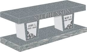 cremation benches benches