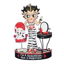 betty boop beautician 3 1 4 inch resin ornament kurt s adler