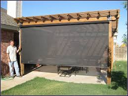 Backyard Shade Solutions by Outdoor Ideas Outdoor Shade Blinds Outside Roller Shades Outdoor