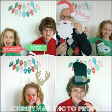 Christmas Photo Booth Props Christmas Photo Booth Prop On A Paper Straws Santa Claus