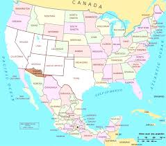 map of the usa map usa and mexico major tourist attractions maps within